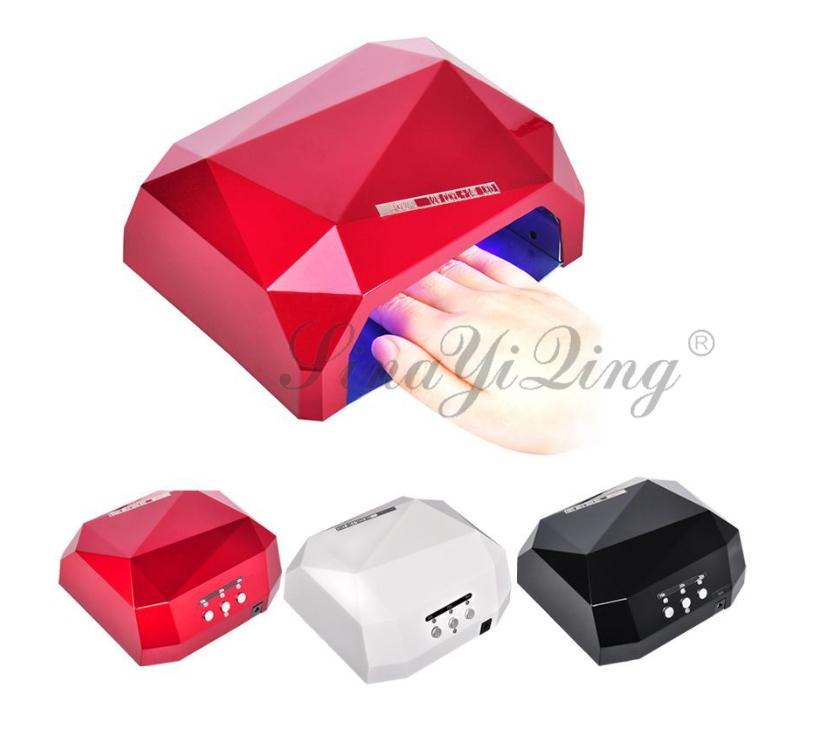 36W Diamond UV tube Led nail dryer portable nail lamp