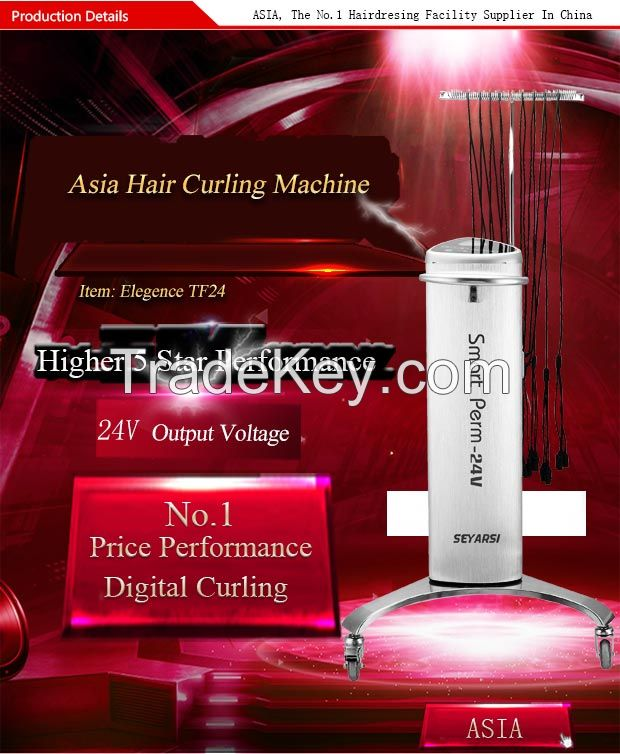 Hair Curling Machine, 24V Output, 32 Lines, Brushed aluminum Shell, TF24
