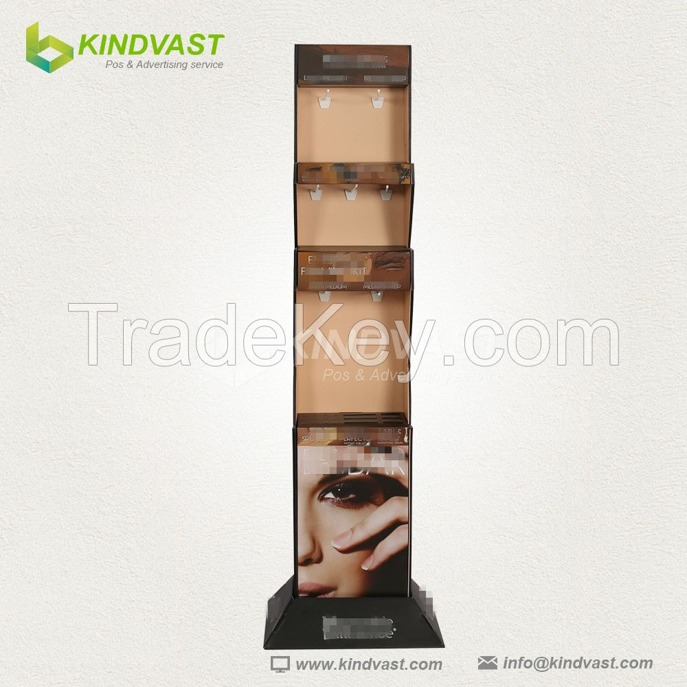 Fashion custom cosmetics product floor display stand