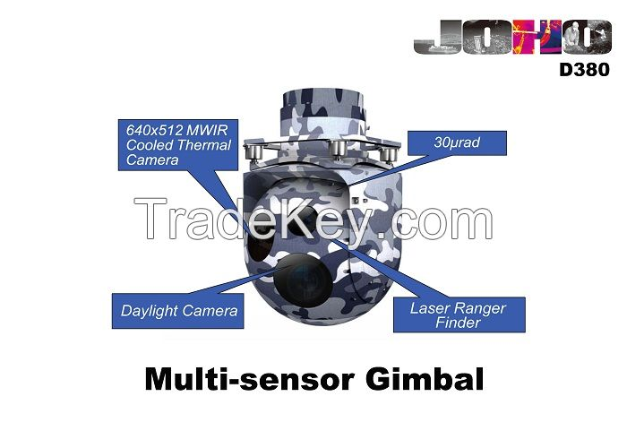Helicopter Eo IR Gimbal with High Gyro Stabilization payload