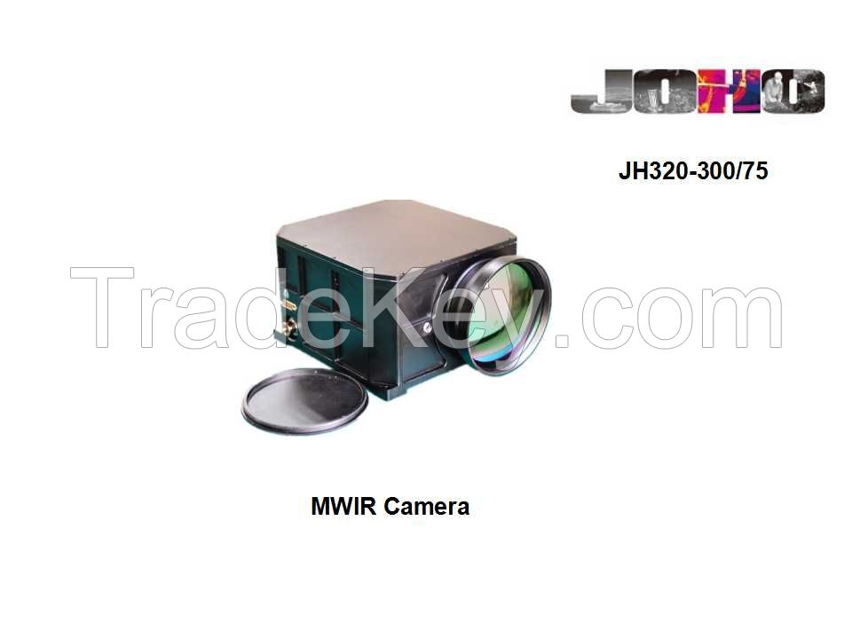 Long Range Mwir Cooled Thermal Security Camera 300mm/75mm Lens