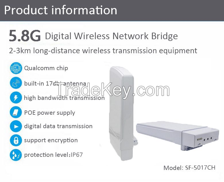 3km 300Mbps 5.8G outdoor wireless transmission equipment