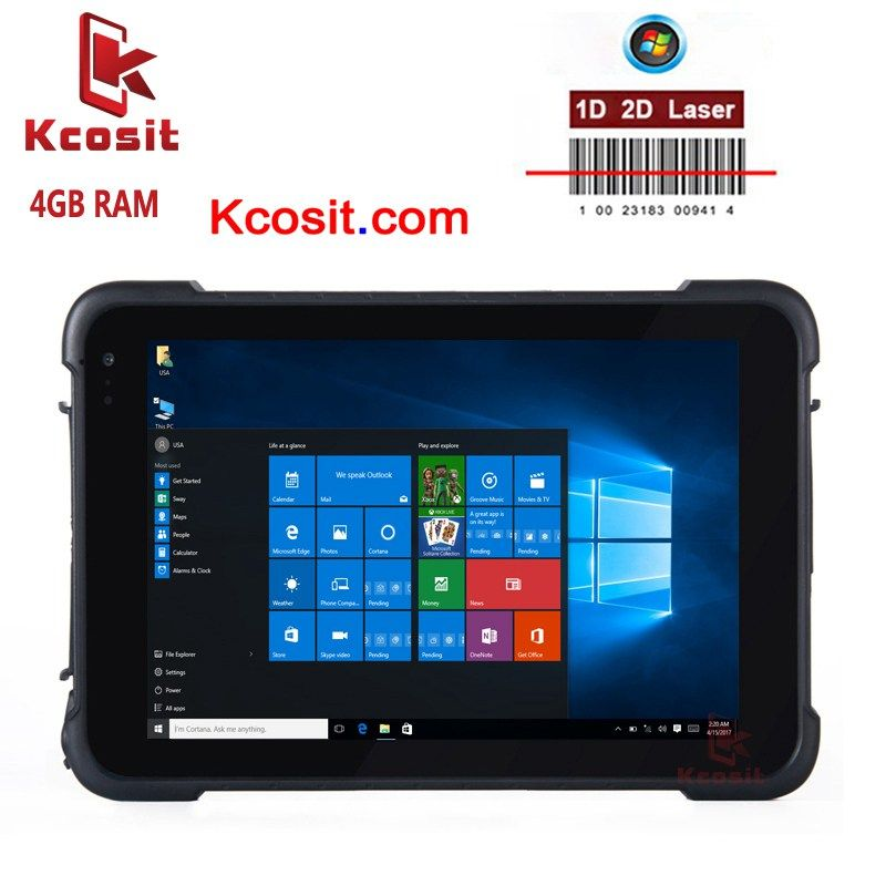 K86H Rugged Windows Car Tablet PC 4GB RAM 64GB ROM IP67 Waterproof