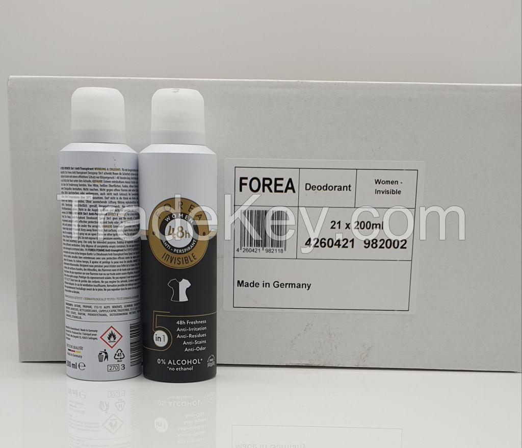 Forea Deodorant Women Invisible 5 in 1, 200ml