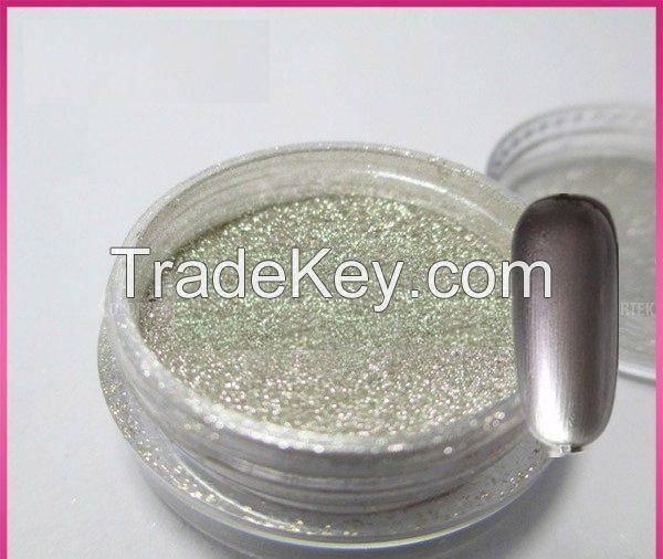 Mirror chrome effect nails powder chrome mirror effect powder for nails