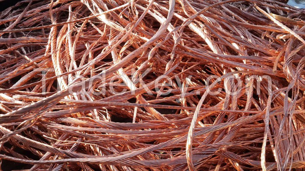Copper Wire/Mill Berry Scrap , scrap tyres , scrap steel mm, steel bars