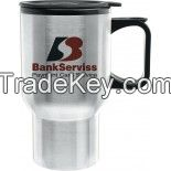 14 oz. Super Saver DW Stainless Steel Tapered Travel Mug - 2 Day Fast Glass