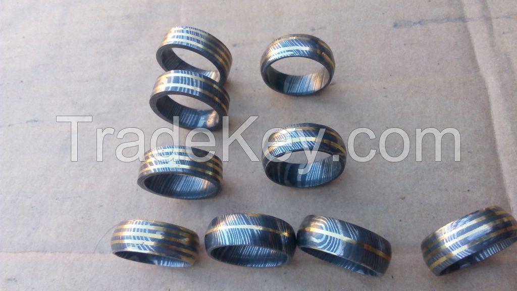 damascus steel rings 0787
