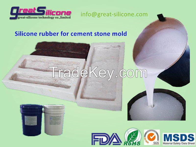 35 shoreA tin cure RTV2 liquid silicone for culture stone mold making
