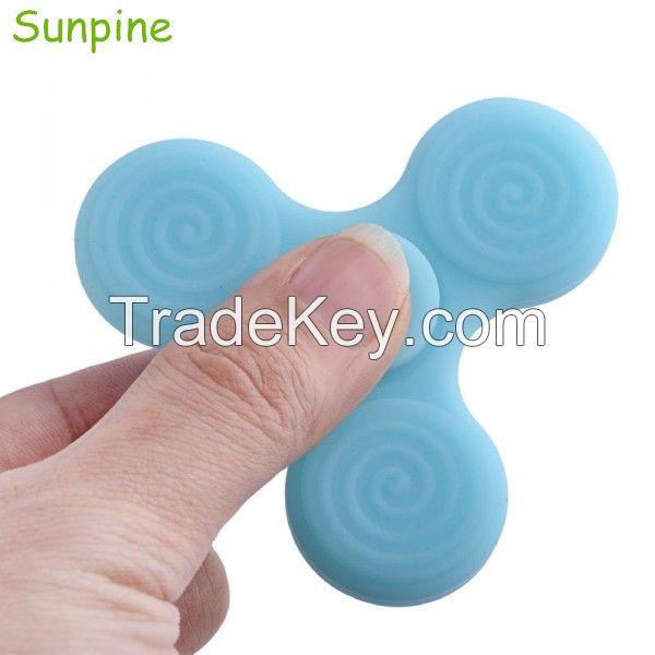 LED Silicone Hand Fidget Spinner Finger Toys