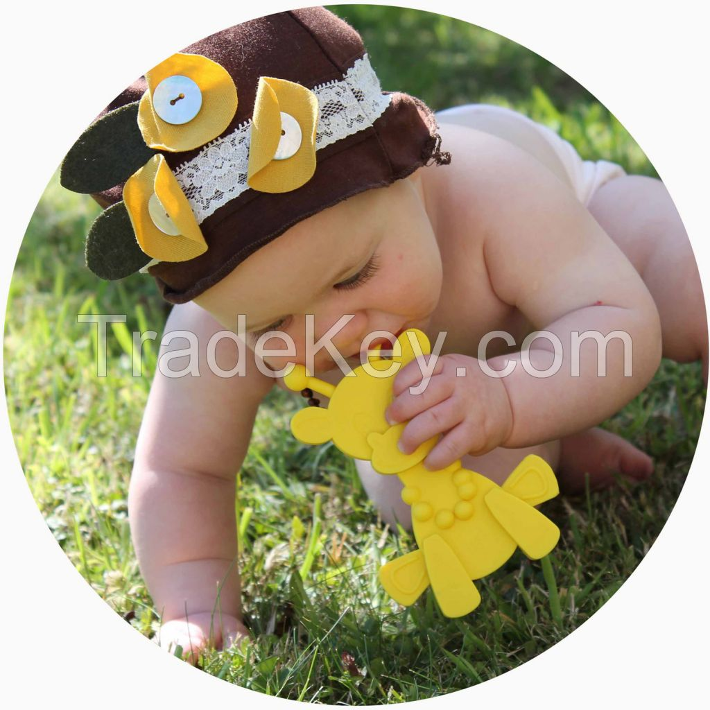 100% Food grade baby teether toys,silicone baby teether