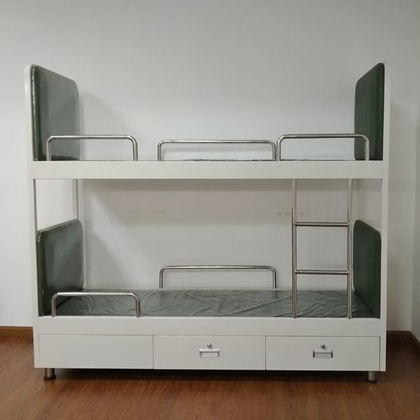 ship bunk bed aluminium bunk bed with powder coating with two drawers