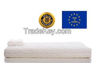 Memory foam pocket spring mattress with removeable protector