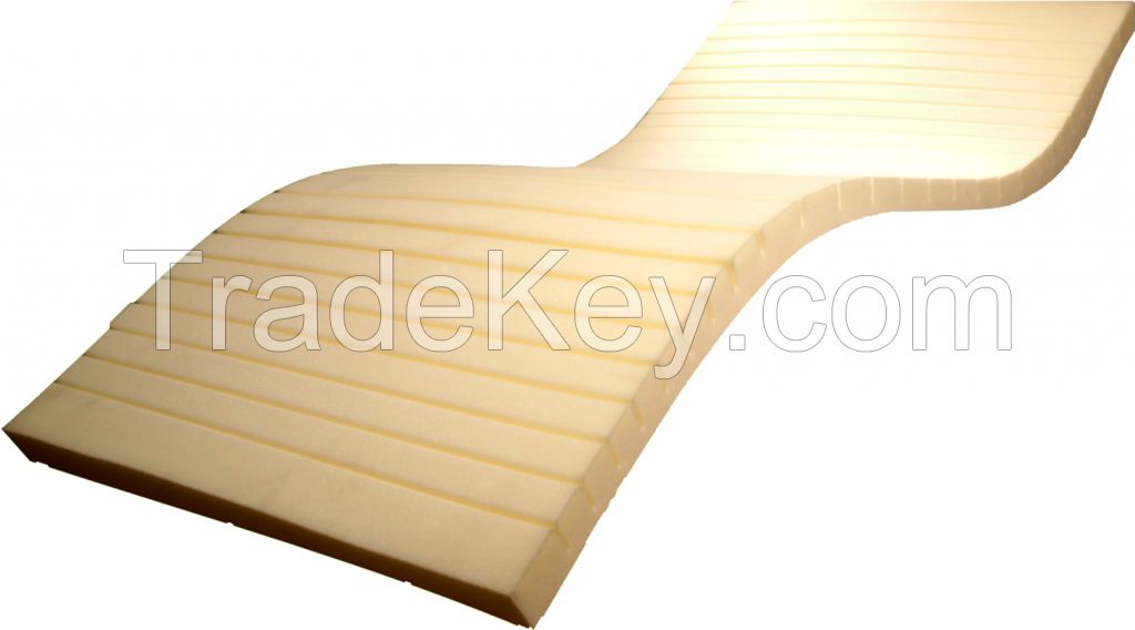 Certificated Hospital Foam Mattress with Rifflead Surface