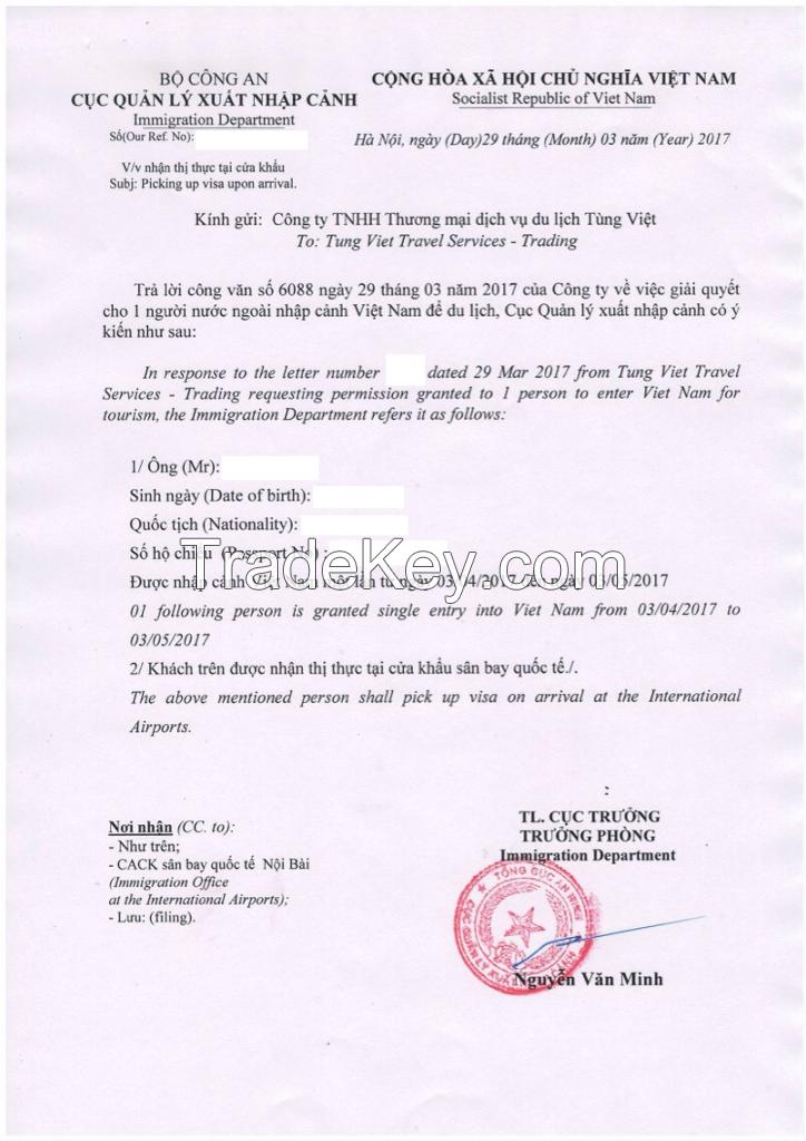 Vietnamese Visas And Visas On Arrival