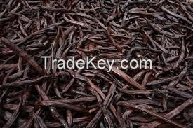 Black vanilla  beans , black Pepper , cooking spices