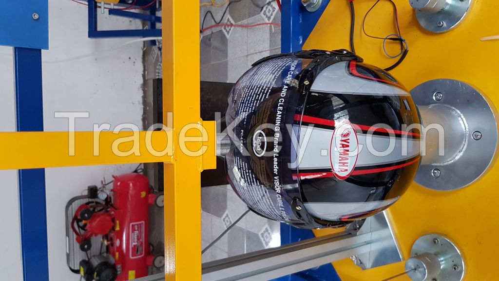 Helmet testing equipment