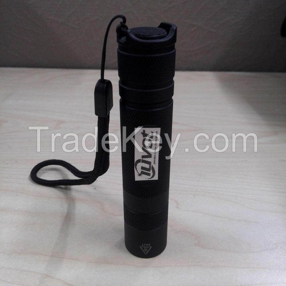 Korea imported SVC 3W uv led flashlight rechargeable