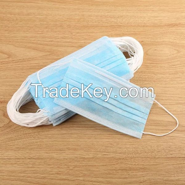 White / Blue / Brown Surgical Medical Procedure 3 ply Earloop Disposable Face Mask