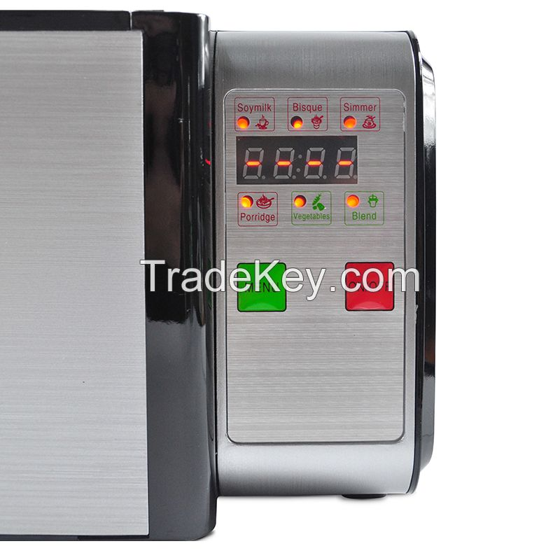 7 Pre-programmed NM608 heating soup maker with big space heating plate