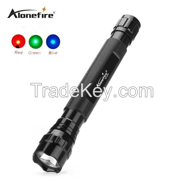 501D Tactical Flashlight Torch Hunting LED Flashlight Torch Lamp Red/blue/green light tactical flashlight lamp