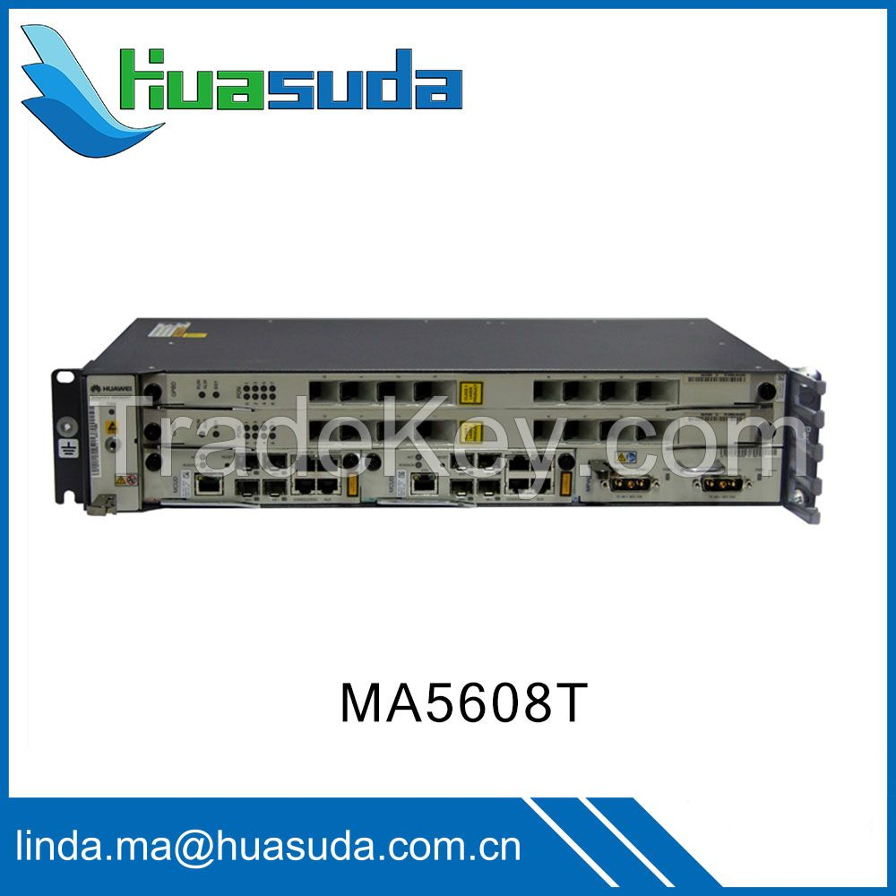 Huawei MA5608T Carrier grade Gigabit Network GPON OLT EPON DSLAM ADSL VDSL ONT ONU optical access networking