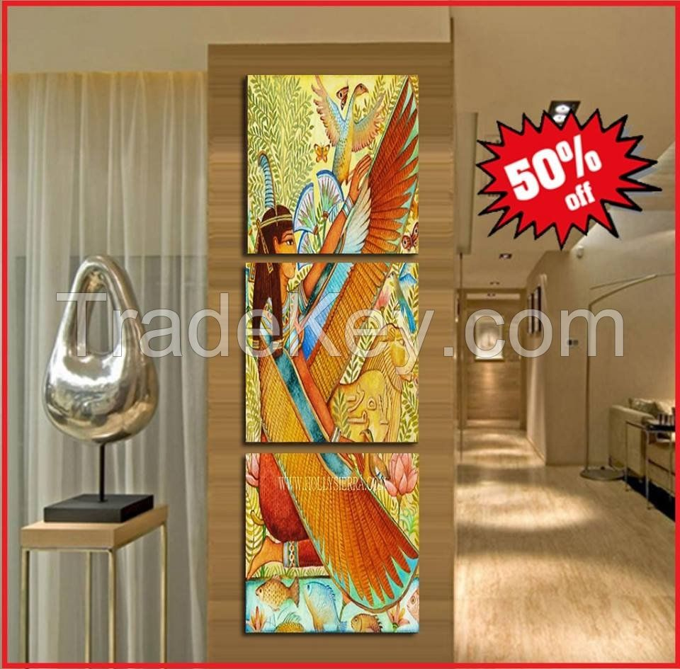 AWESOME EGYPTIAN ART CANVAS