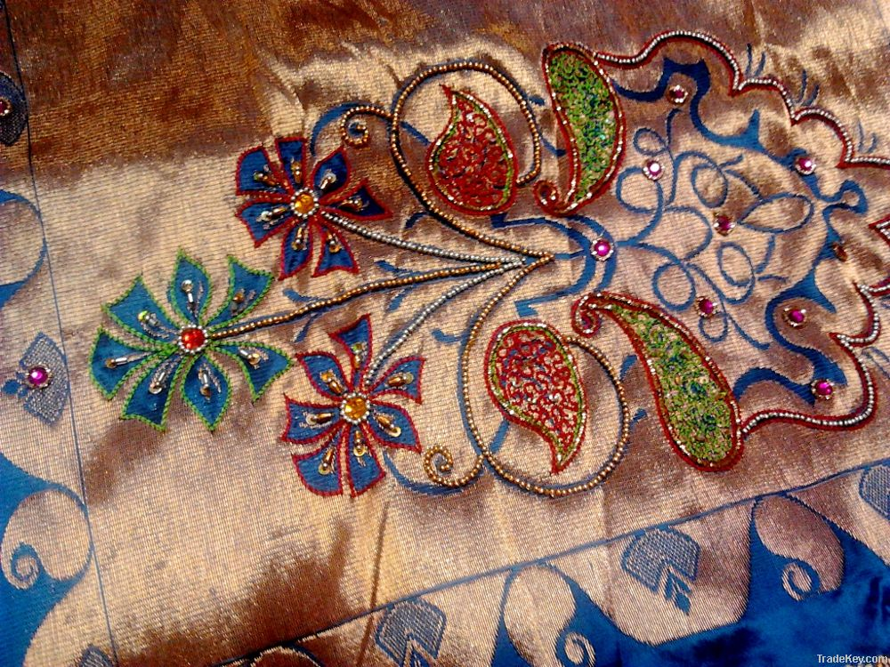 Hand Embroidered Saree