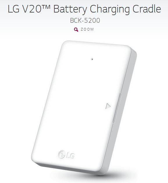 LG V20 Battery Charging Cradle
