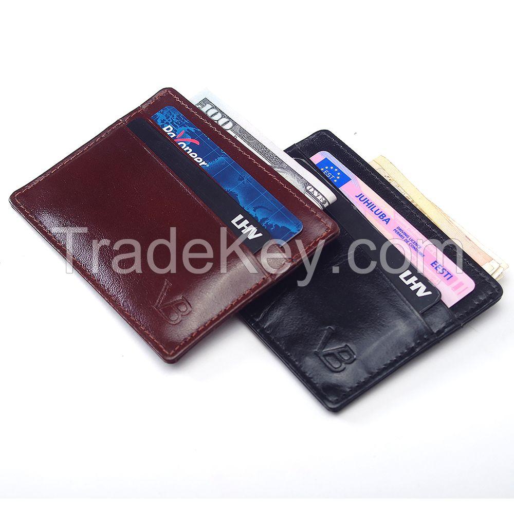 Buffalo Leather Credit Card Wallet / Card Holder / Cardholder