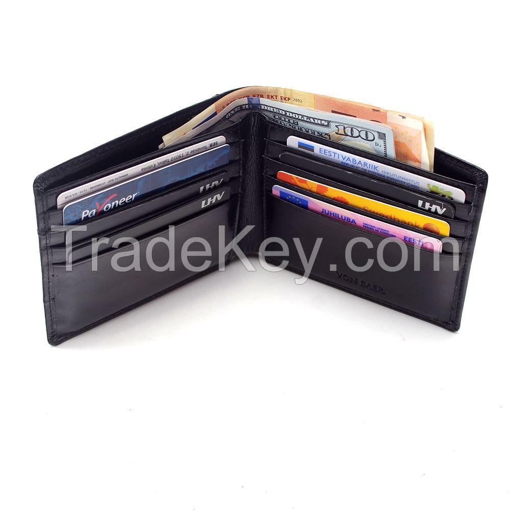 Buffalo Leather Men's Walet, Bifold Wallet, Classic Wallet