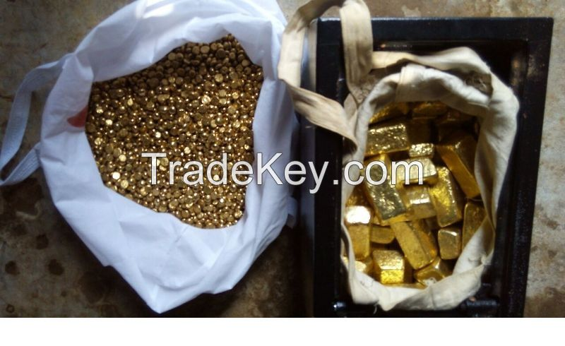 Gold bars , Nuggets and Gold Dust  For Sell