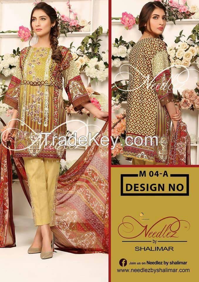 Branded Unstitched Women Salwar Kameez lawn