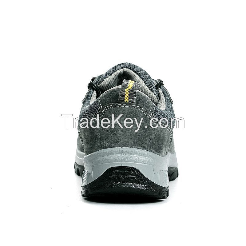 approved safety shoes yellow grossy cow leather upper shoes