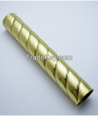 Rope Twist Solid Brass Tube