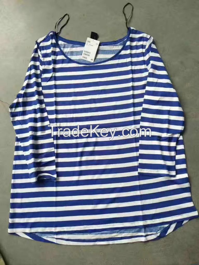 Ladys yarn dye long sleeve T