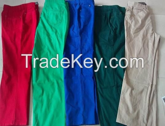 High Quality cheap Ladies colors jeans