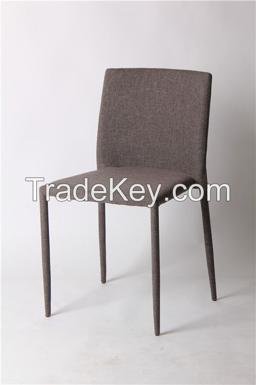 convenient stackable fabric dining chair EGC-2006