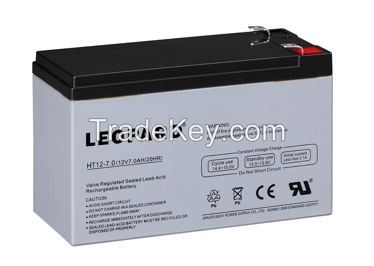 AGM BATTERY 12V7AH with 5~10 years design life in float service