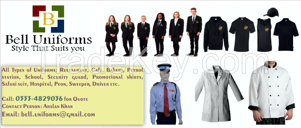 All Types of Uniforms