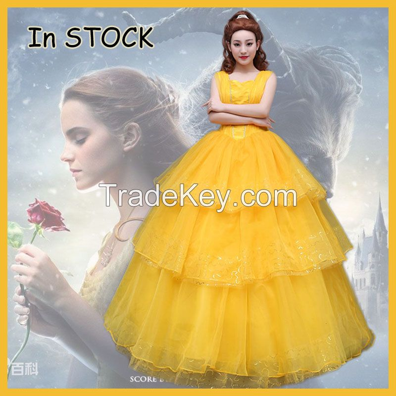 2017 movie Beauty and the Beast Movie Princess Belle cosplay costume