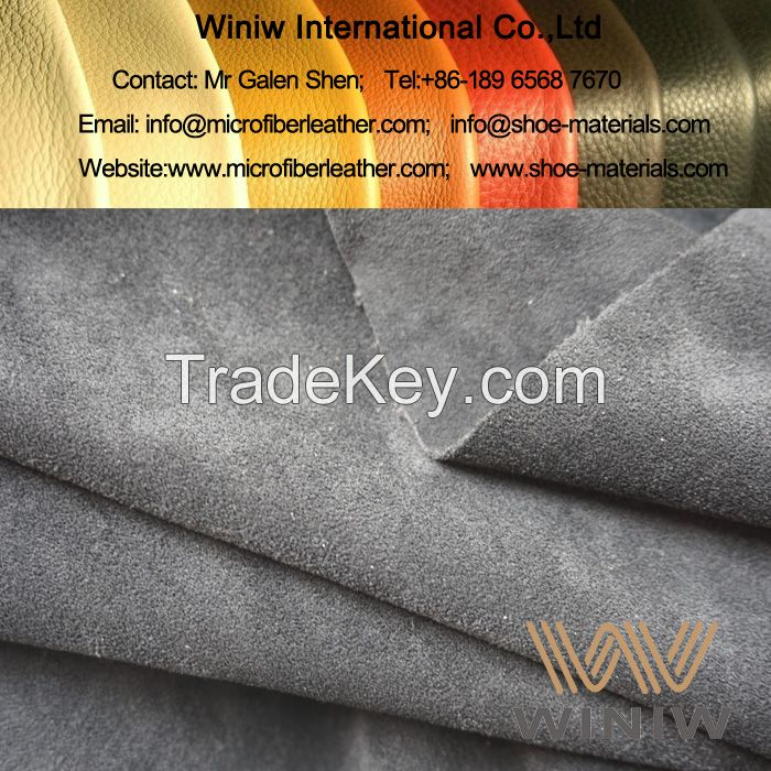 Micro Fiber Suede Leather Material for Shoes