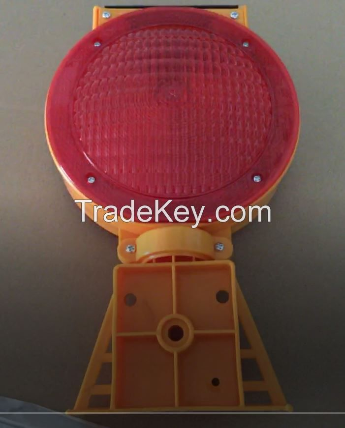solar barricade light / solar warning light