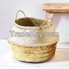 Laundry seagrass basket/ storage basket/ belly seagrass basket