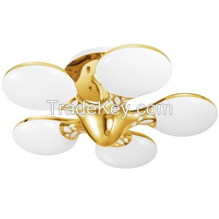 New UFO series Style Gold LED Ceiling Lights Five Light head