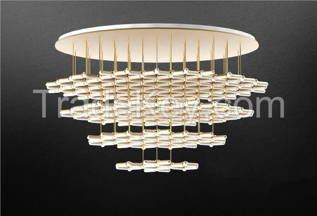 Gold LED Snowflakes shape Ceiling Lights