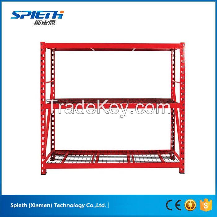 Heavy duty industrial storage rack steel mesh shelving