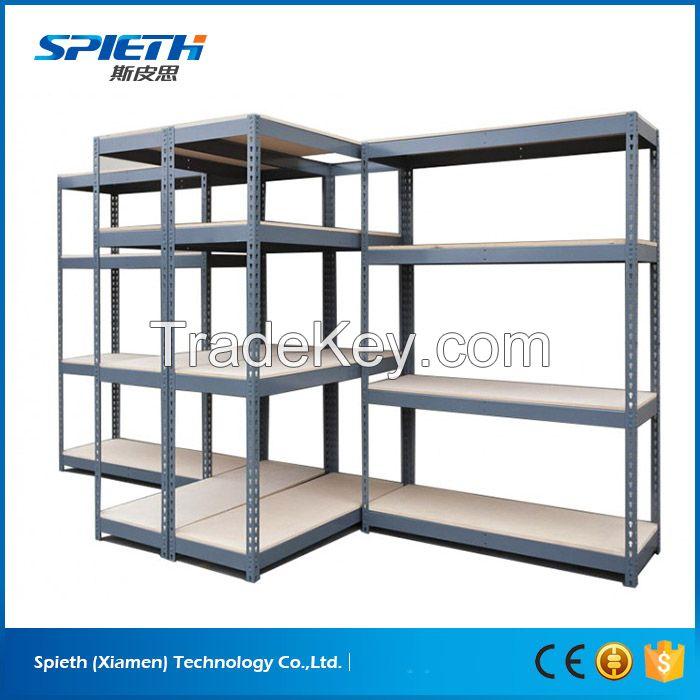 Light duty adjustable rivet lock storage boltless rivet shelving