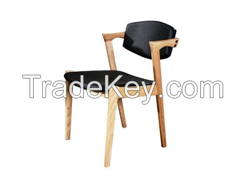 Solid wood danish dining chairs