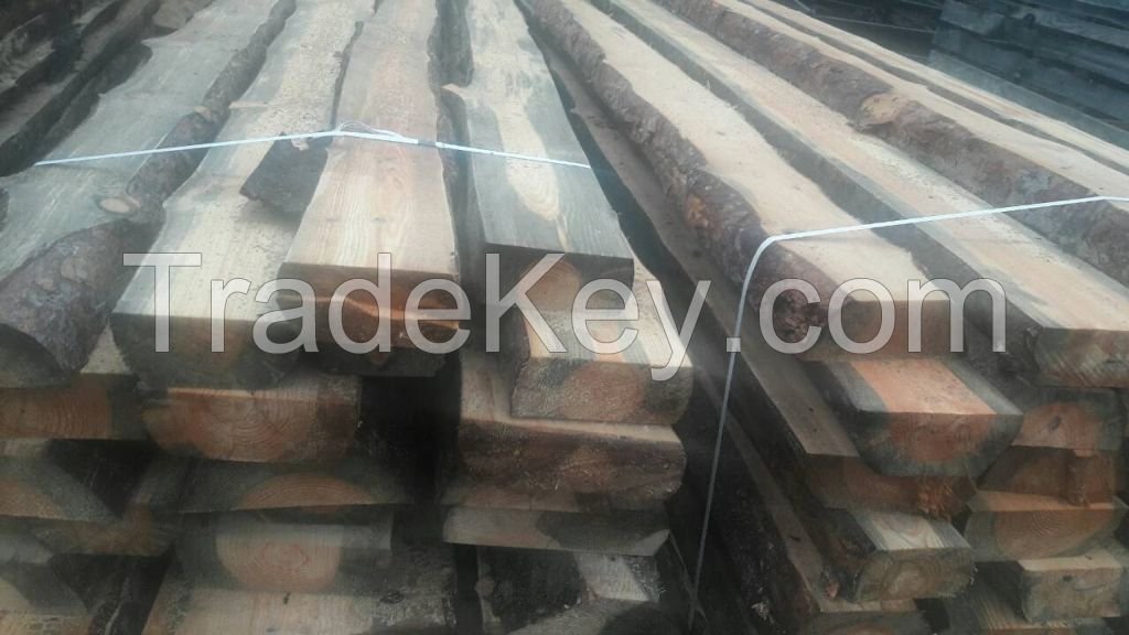 Two-sided cant  Unedged beam